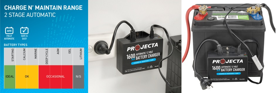 "Projecta ""Charge N Maintain"" Battery Chargers"