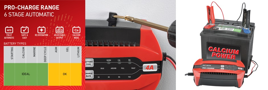 Projecta Pro-Charge Battery Chargers